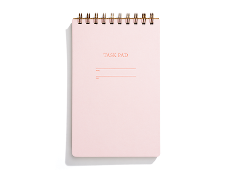 Task Pad Notebook - Pink Lemonade