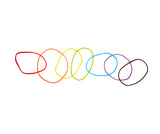 Rainbow Rubber Bands In Tin