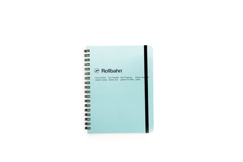Rollbahn Spiral Notebook: Sky Blue