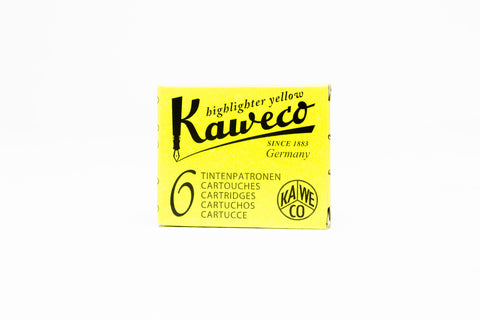 Kaweco Cartridge Refill 6 Piece Box - Glowing Yellow