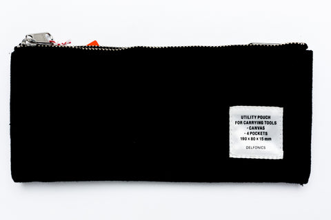 Delfonics Double Fastener Pen Case - BLACK