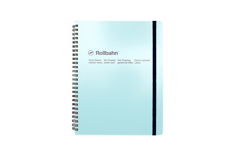 Rollbahn Spiral Notebook: Sky Blue (Extra Large)
