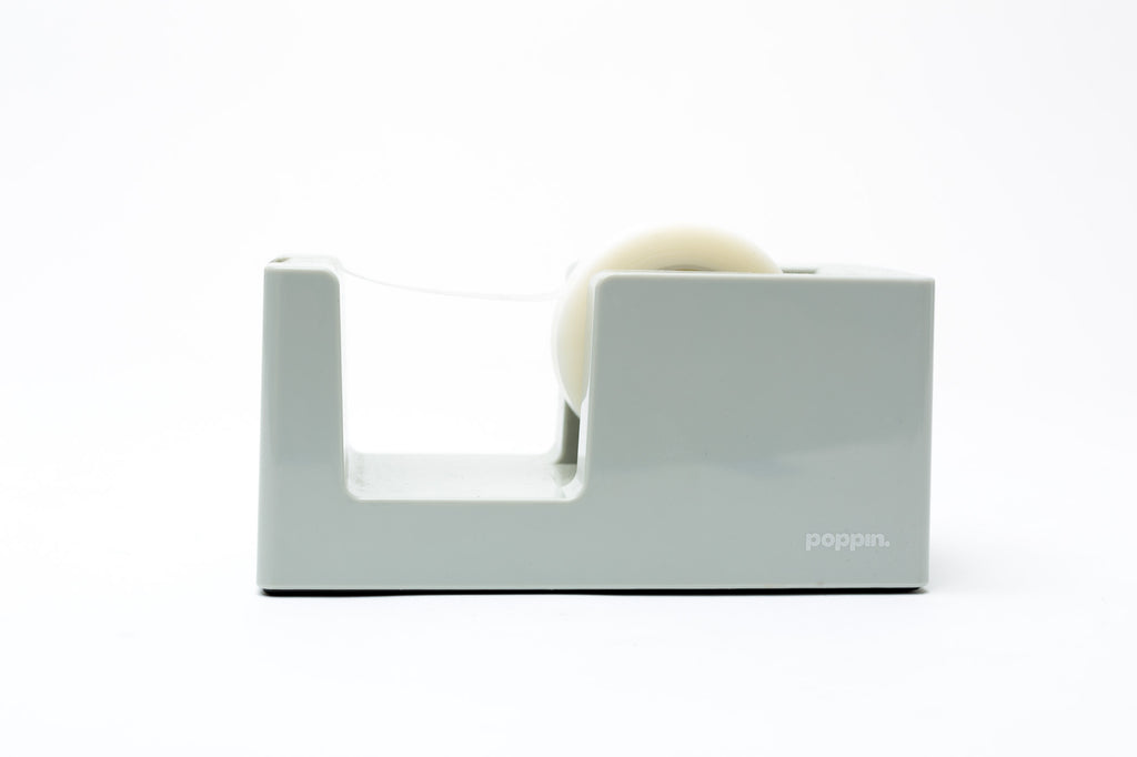 Poppin Tape Dispenser: Light Gray