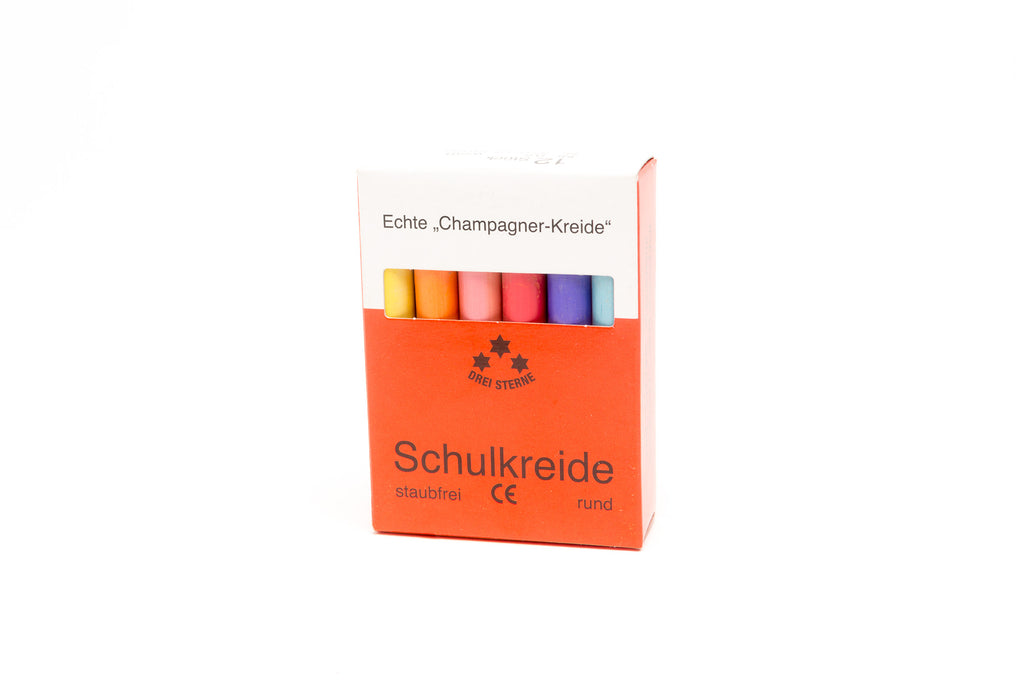Three Star Colored Champagne Chalk - 12 Sticks