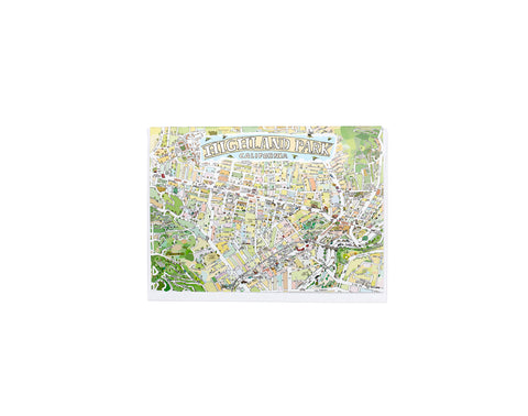 Highland Park Map Card