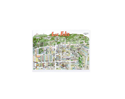 Los Feliz Map Card