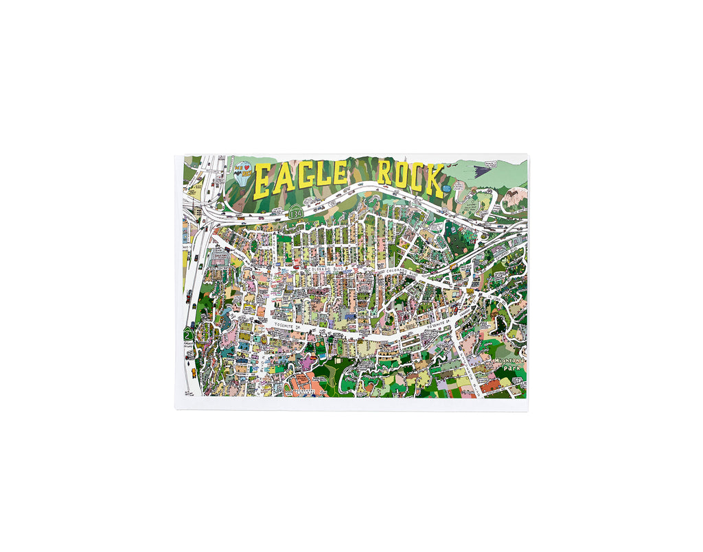 Eagle Rock Map Card