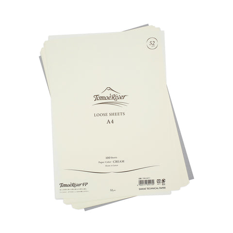 Tomoe River Loose Sheets A4 - Blank Cream