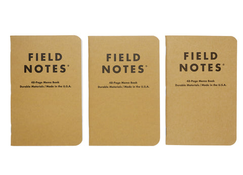 Field Notes Kraft Mixed Notebooks