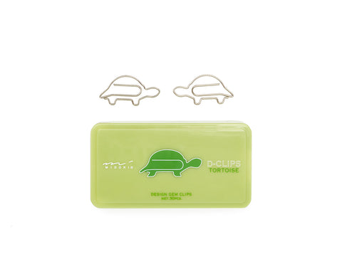 Midori D-Clips Tortoise Paperclips