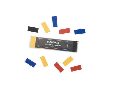 Palomino Blackwing 155 Replacement Erasers - Multi-Color (10 pack)