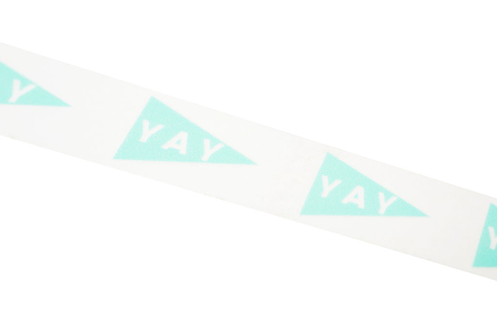 Mint YAY pennant Washi Tape