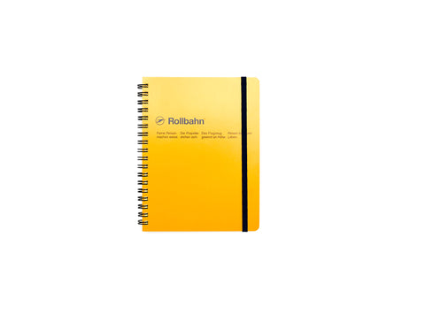 Rollbahn Spiral Notebook: Yellow