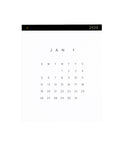 2020 Appointed Wall Calendar