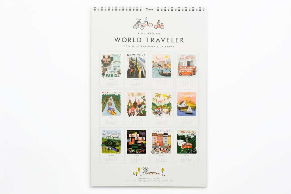 75b7aa1b86f3 2019 World Traveler Wall Calendar – Shorthand