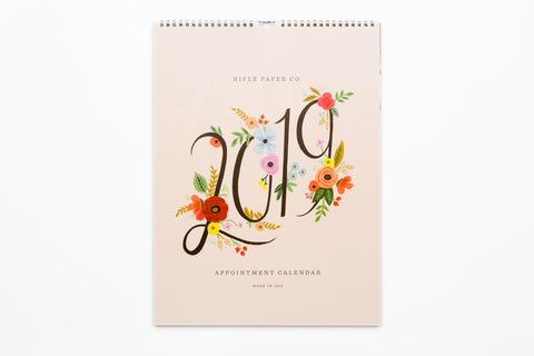 2019 Bouquet Appointment Wall Calendar