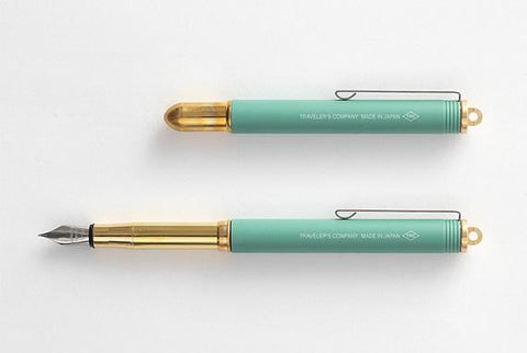 Midori Brass Fountain Pen: Green (Limited Edition)