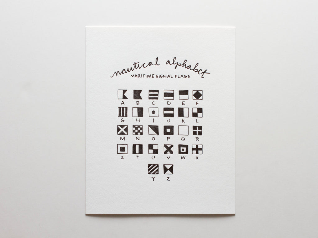 Nautical Alphabet - Print