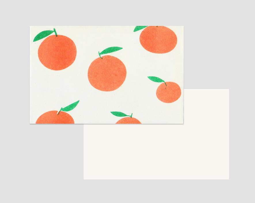 Orange Notecard Set