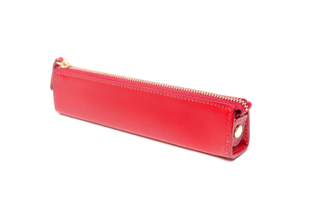 Slip-On Rio Zipper Pen Case Small - Red