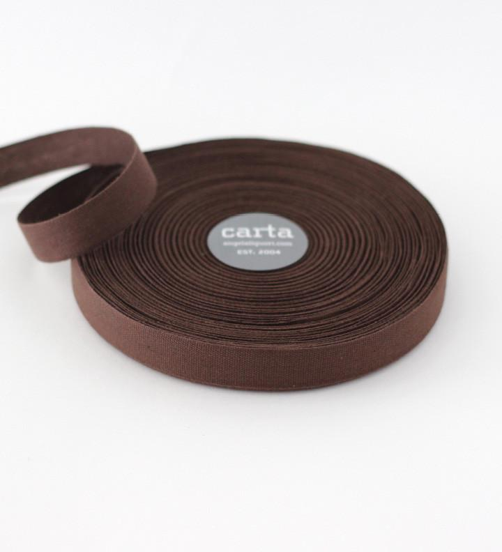 Chocolate Tight Weave Cotton Ribbon