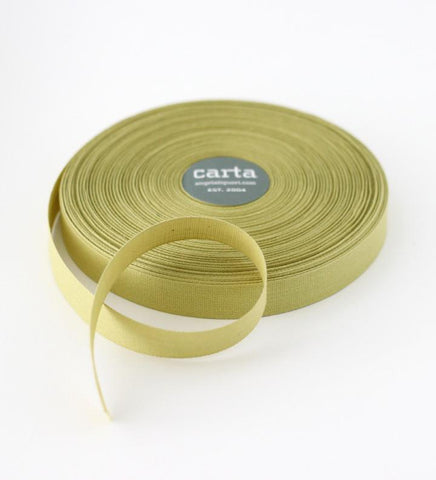 Chartreuse Tight Weave Cotton Ribbon