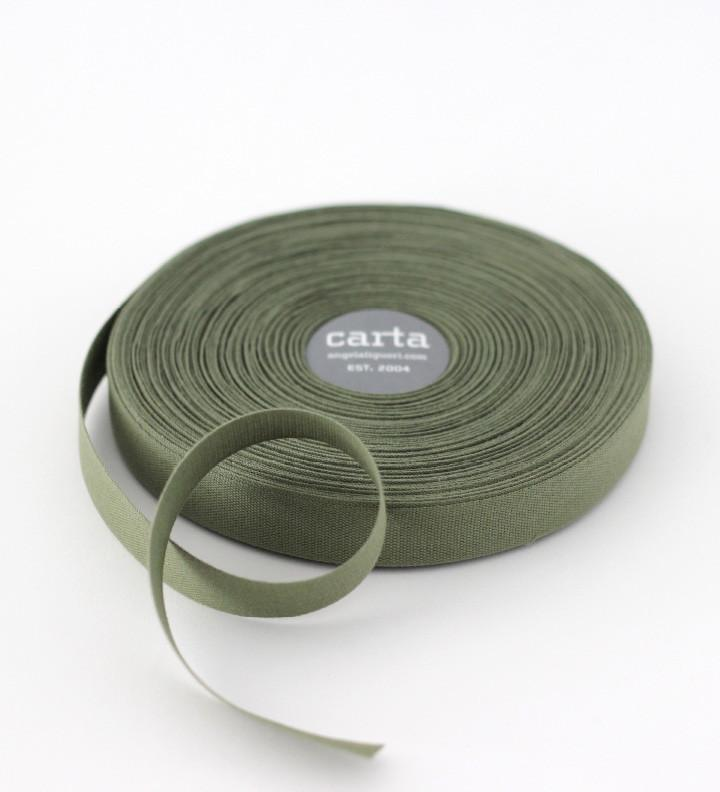 Olive Tight Weave Cotton Ribbon
