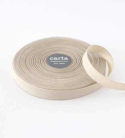 Tan Tight Weave Cotton Ribbon