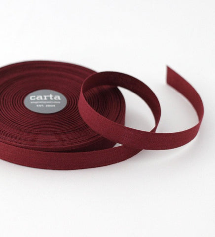 Wine Tight Weave Ribbon