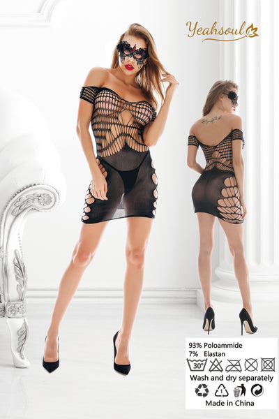 Women Sexy Lingerie Fishnet Bodystockings, Babydoll Bodysuit Nightwear