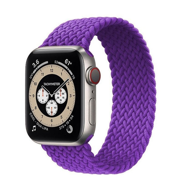Braided Solo Loop For Apple Watch band 44mm 40mm 42mm 38mm Fabric Nylon Elastic Belt Bracelet iWatch Series 3 4 5 SE 6 Strap