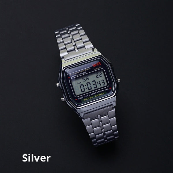 Rose Gold Silver Watches Men Women Electronic Digital Display Retro Style Clock Men's Relogio Masculin Reloj Hombre homme
