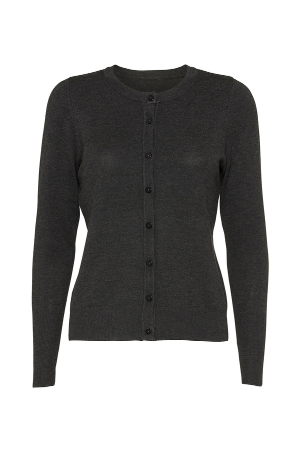 Karlina cardigan - Dark grey melange