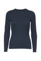 Karlina o-neck LS top - Dark blue melange