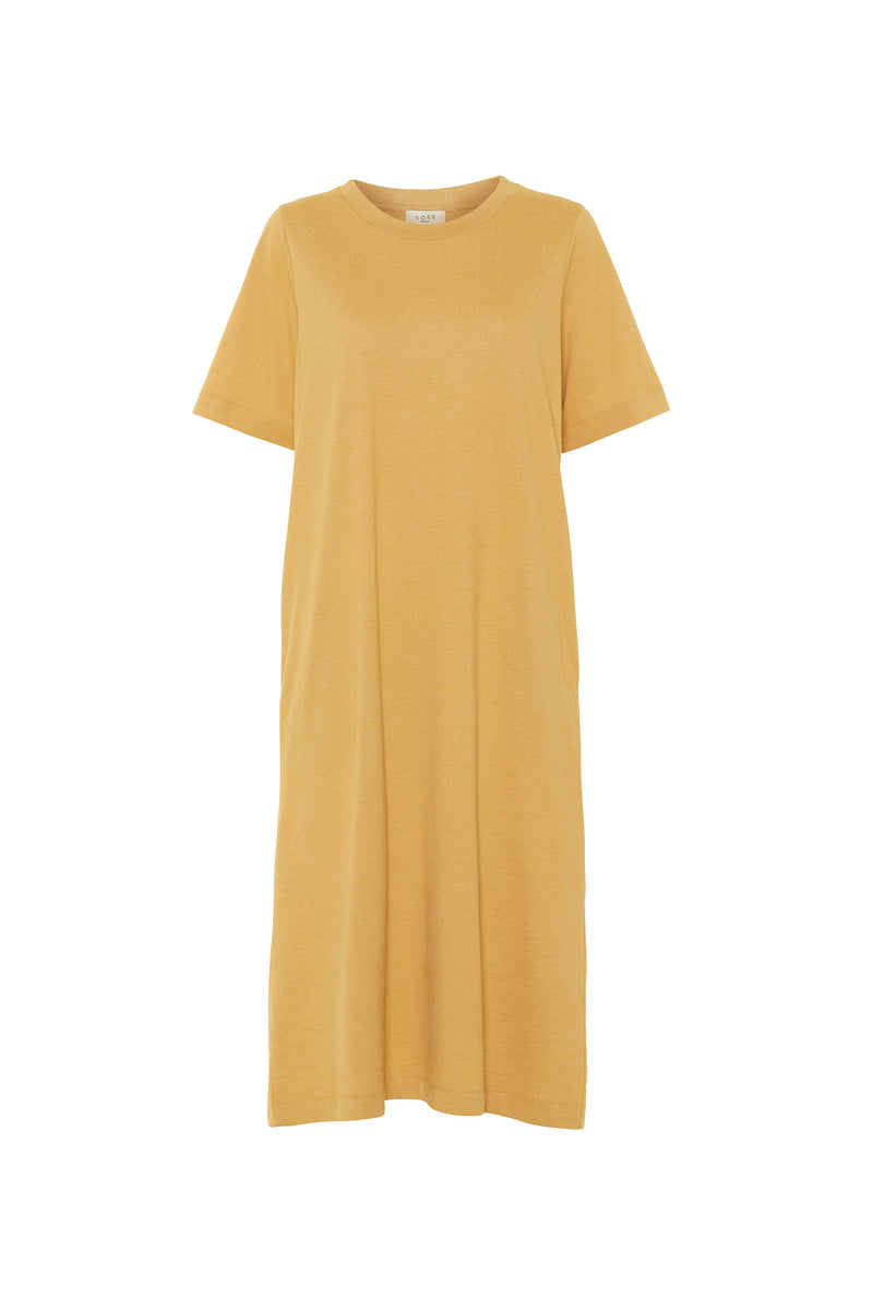 Payton tee dress - Dusty yellow