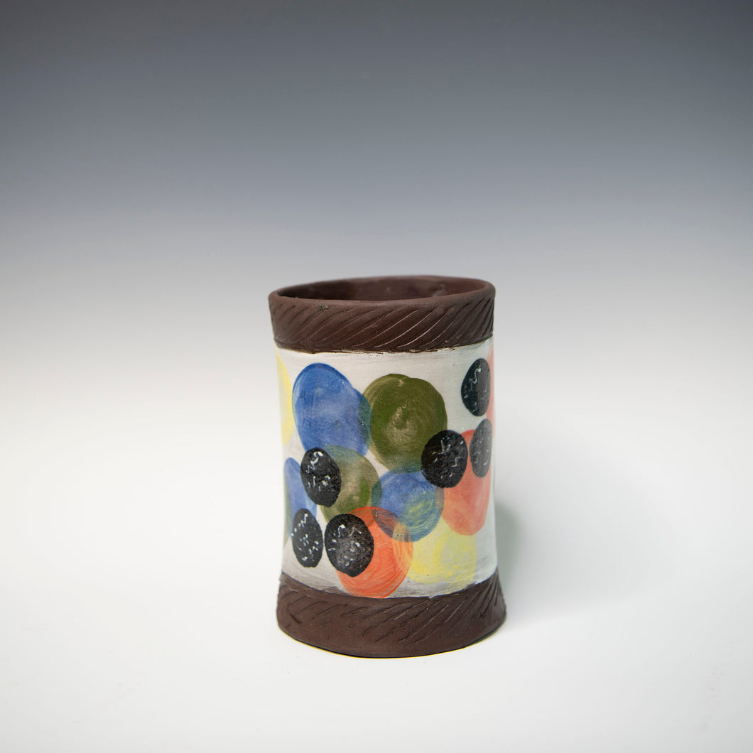 Wine Bucket Color Dots Pottery