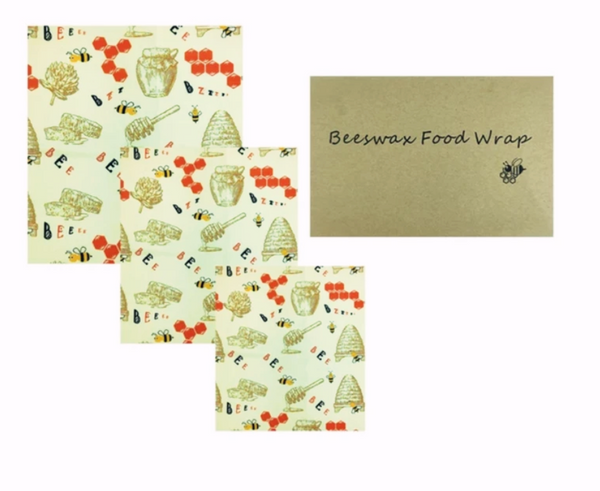 Beeswax Food Wraps Set Of Three