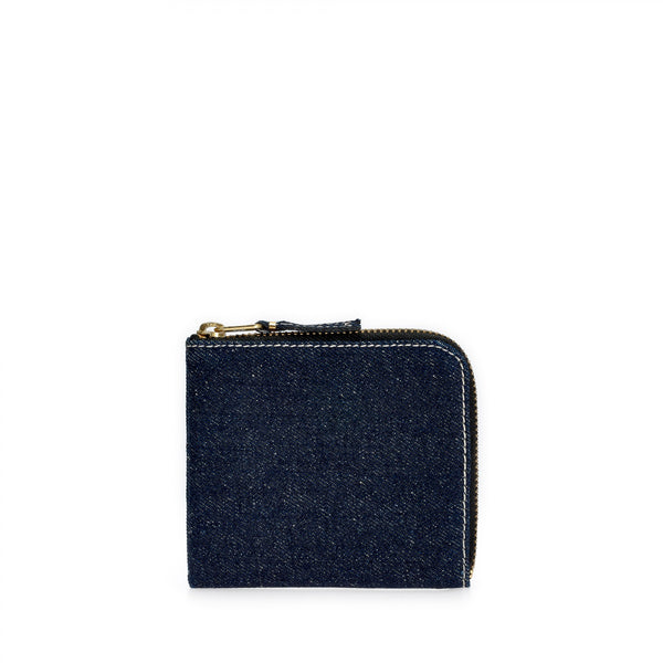 Denim Half Zip Wallet