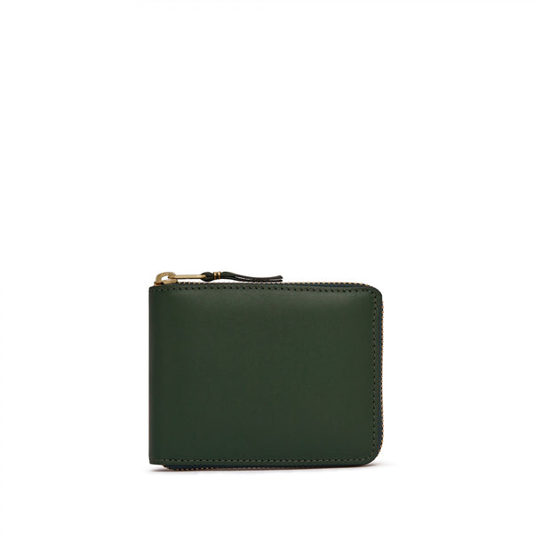 Bottle Green Zipper Wallet