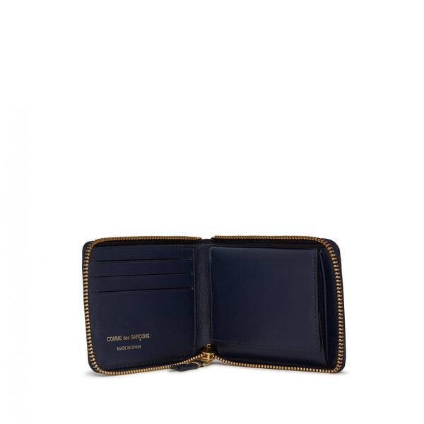 Navy Zipper Wallet