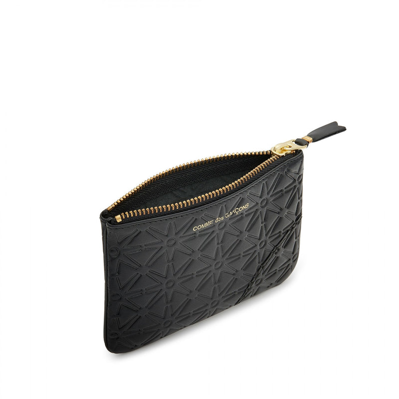 Black Embossed A Small Pouch