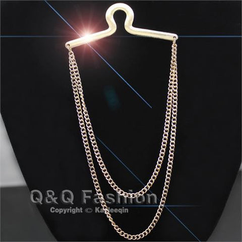Double Tie Chain - Gold or Silver