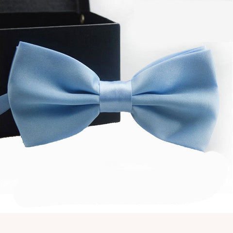 Steel Blue Adjustable Bowtie
