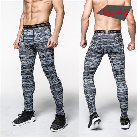 Grey/Black Compression Pants