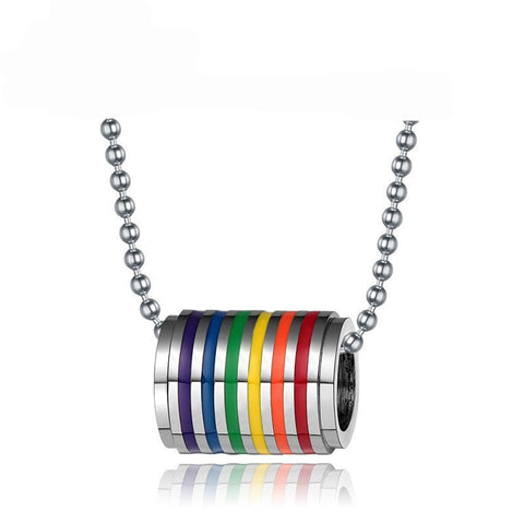Rainbow Stainless Steel Necklace Pendant