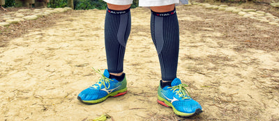 Running without calf sleeve or knee sleeve might hurt yourself