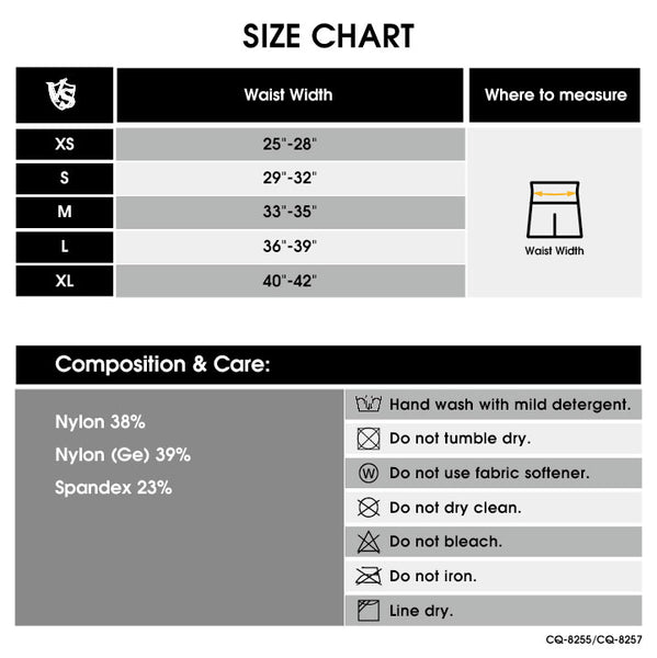 men legging size chart