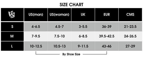 Diabetic Socks (Short) size chart