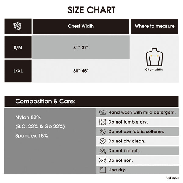 seamless compression tank size chart