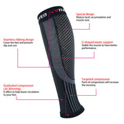 Brace-Recovery Compression Calf Sleeves (Pair) - Vital Salveo